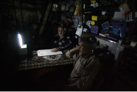Gaza power outage (file)
