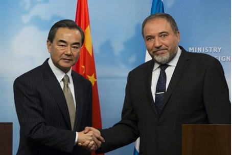 Foreign Minister Avigdor Liberman with Chines