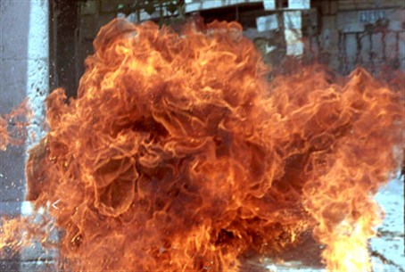 Firebomb explosion (illustrative)