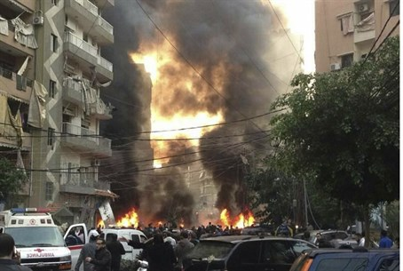 Aftermath of Beirut bomb, 2nd Jan. 2014