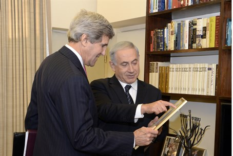 Kerry with Netanyahu, January 2014 (illustrat