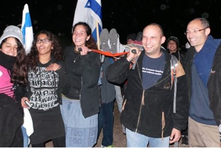 Naftali Bennett at the 'Lamed Hey' march