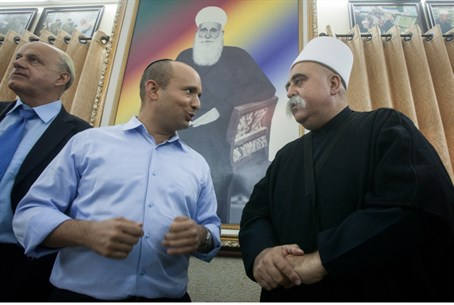 Bennett with Druze leader (archive)