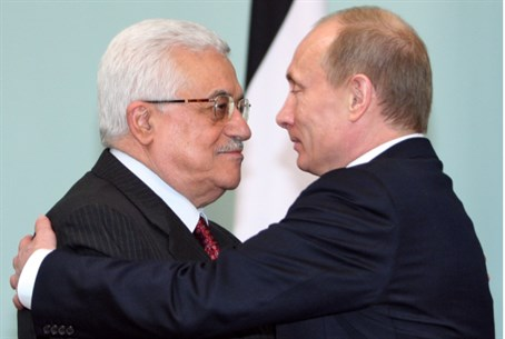 Mahmoud Abbas and Vladimir Putin (file)