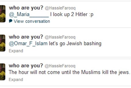 Anti-Semitic tweets