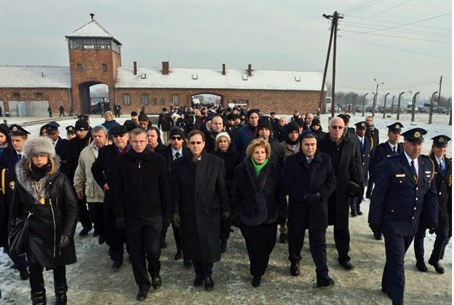 Knesset, Polish Parliament march through Ausc