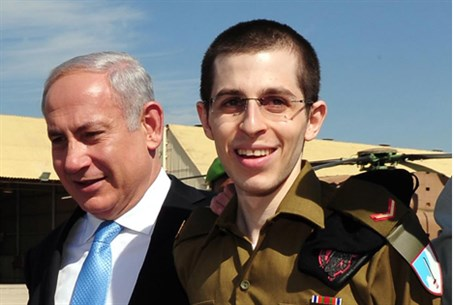 Newly released Gilad Shalit with Binyamin Net