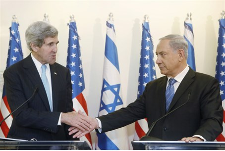 John Kerry and Binyamin Netanyahu