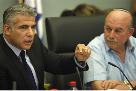 Yair Lapid and Nissan Slomiansky