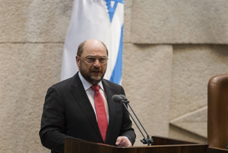 Martin Schulz adresses the Knesset