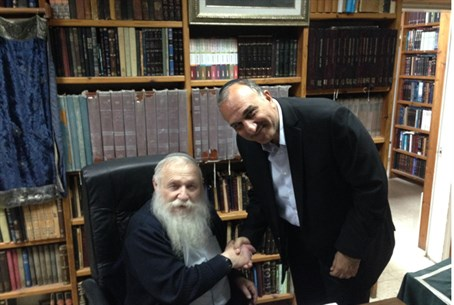 Rabbi Druckman with Eli Cohen
