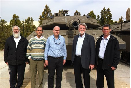 IDF and JCT offcials tour the Merkava project