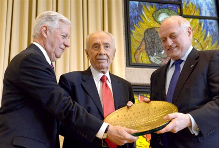Peres  with presidents of Major American Jewi