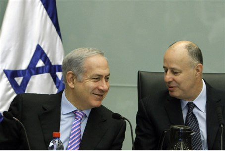 Netanyahu and Hanegbi (file)