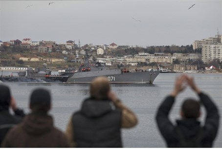 Russian warship off Crimea