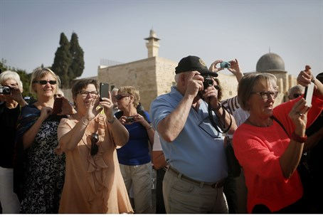 Foreign tourists take in Jerusalem's Old City