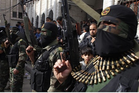 Islamic Jihad terrorists in Gaza (file)