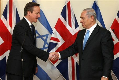 David Cameron and Binyamin Netanyahu (file)