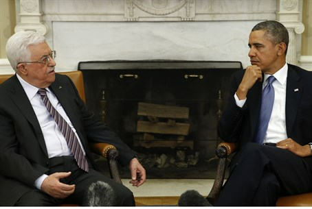 Mahmoud Abbas meets with Barack Obama, March