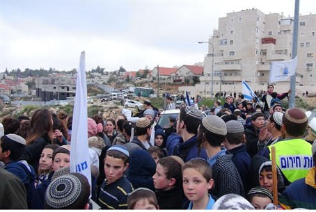 Beit El residents protest