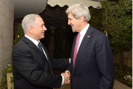 Binyamin Netanyahu and John Kerry