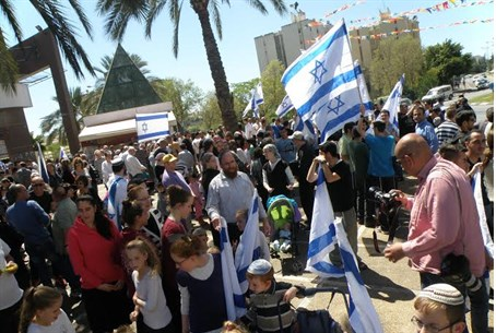 Jewish counter-protest in Karmoel