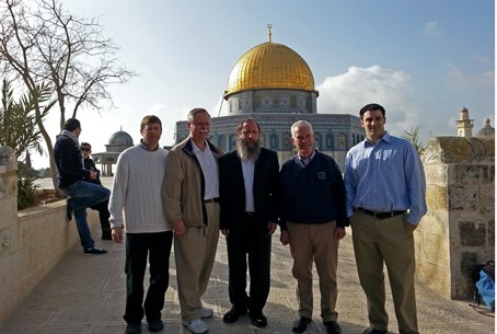 Rep. Johnson (2nd R) on the Temple Mount, fla