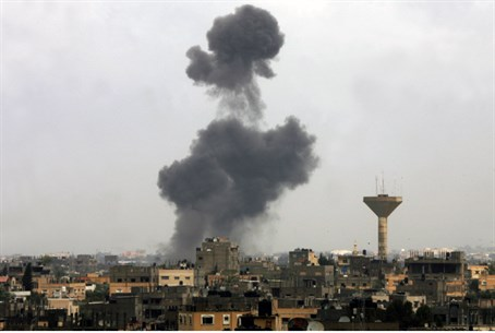 Explosion in Gaza (illustration)