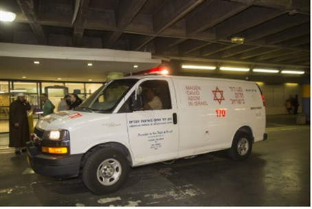 l.Ambulance at Shaarei Tzedek hospita