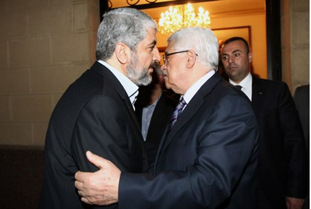 Hamas's Mashaal with Mahmoud Abbas