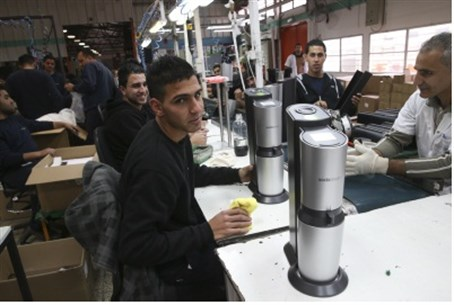 Workers at SodaStream plant