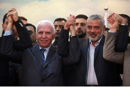 Azzam Al-Ahmed and Hamas's Ismail Haniyeh