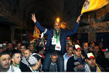 Demonstrators celebrate terrorist release in