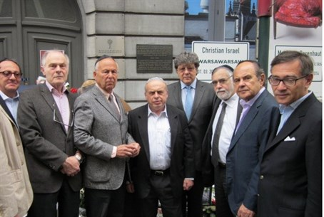 Natan Sharansky, center, with Jewish communit