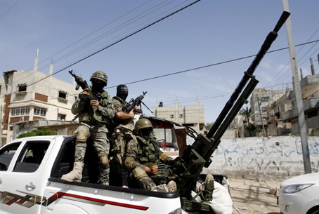Hamas gunmen in Gaza