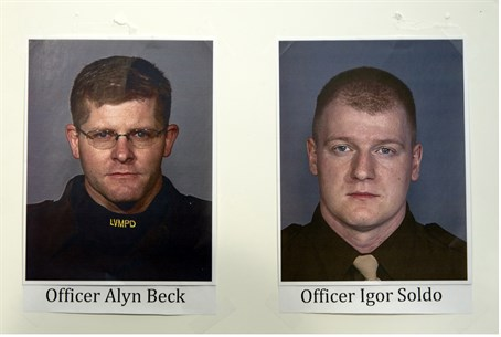 Murdered police officers Alyn Beck and Igor S