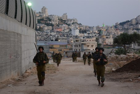IDF forces in Samaria