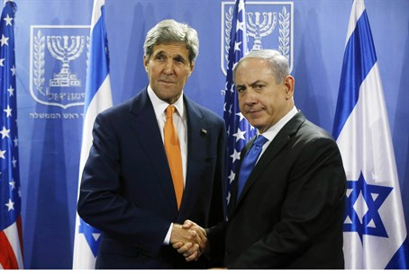 John Kerry meets with Binyamin Netanyahu as c