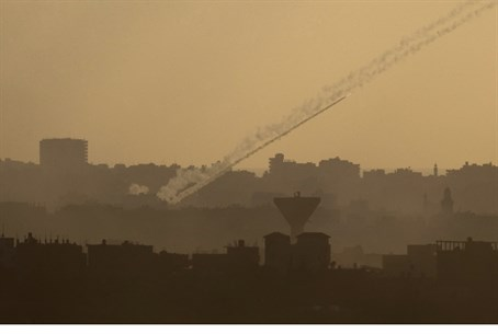 Rocket fire from Gaza (file)