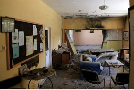 Kindergarten hit by rocket in Eshkol Region