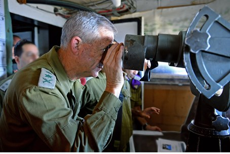 Benny Gantz on Golan Heights