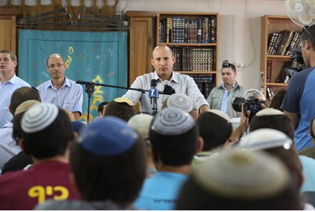 Naftali Bennett at Mekor Chaim yeshiva high s
