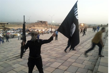 A fighter of the Islamic State (ISIS)