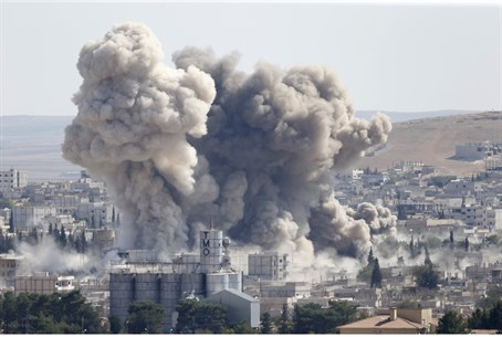 Coalition strike on ISIS in Kobane (file)