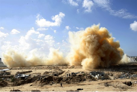 Gaza homes in Rafah blown up