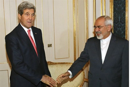 Secretary of State John Kerry and Iranian Foreign Minister Mohammad Javad Zarif