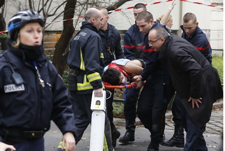Scene after a shooting in Paris