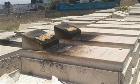 Arson at Mt. of Olives Cemetery (file)