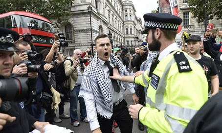 Anti-Israel protesters in London