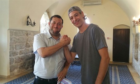 Matisyahu in Samaria solidarity trip